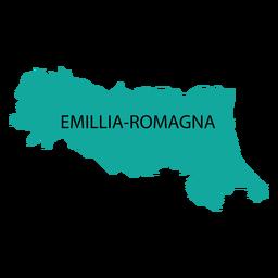 Mapa de la región de Emilia Romagna