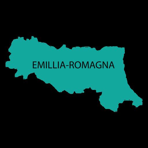 Mapa de la región de Emilia Romagna Transparent PNG