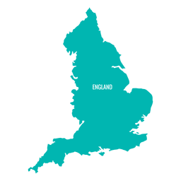 Mapa del país de Inglaterra