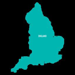 Mapa do país inglaterra