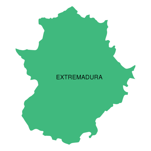 Mapa da comunidade autónoma da Extremadura Transparent PNG