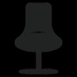 Ícone plana de cadeira de escritório de moda