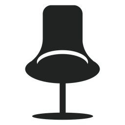 Oficina de moda silla icono plana