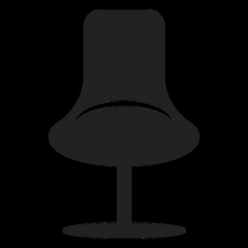 Ícone plana de cadeira de escritório de moda Transparent PNG