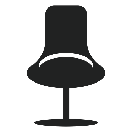 Fashion office chair flat icon Transparent PNG