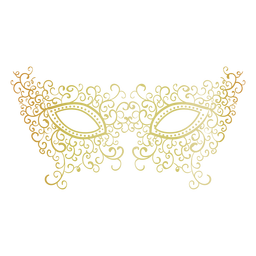 Filigree carnival mask icon