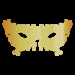 Ícone de máscara de carnaval de filigrana