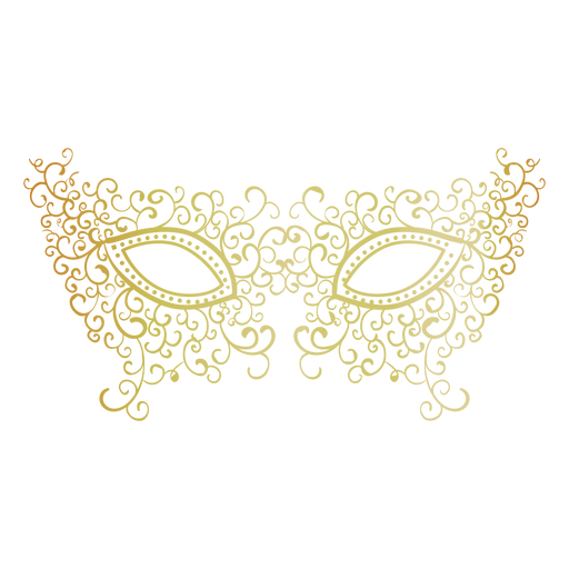 Ícone de máscara de carnaval de filigrana Transparent PNG