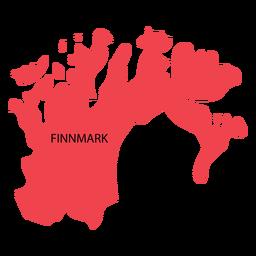 Mapa de condado de Finnmark