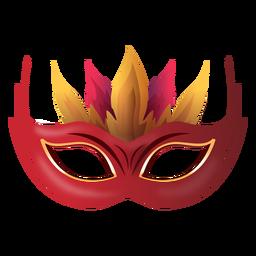 Máscara de carnaval de fogo
