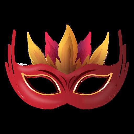 Fire carnival mask Transparent PNG