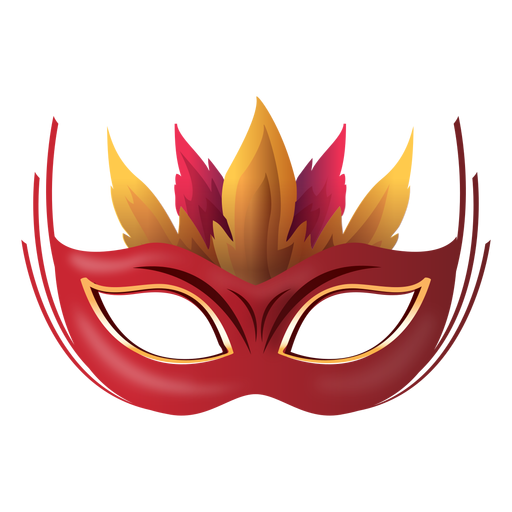 Máscara de carnaval de fogo Transparent PNG