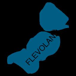 Mapa de la provincia de Flevoland