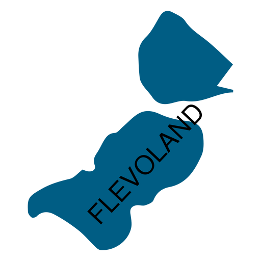 Flevoland province map Transparent PNG