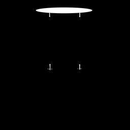 Silhueta de instrumento musical de tom de chão
