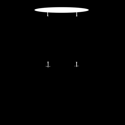 Silhueta de instrumento musical de tom de chão Transparent PNG