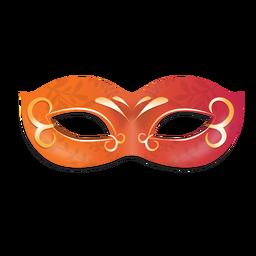 Máscara de carnaval floral