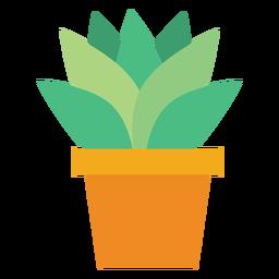 Vaso de flores com clipart de cactos