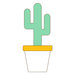 Flowerpot with cactus icon