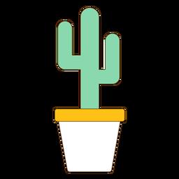 Maceta con icono de cactus