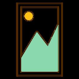 Icono de imagen de la montaña enmarcada