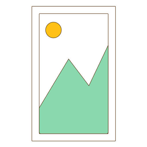 Framed mountain picture icon