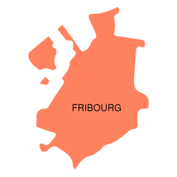Fribourg canton map
