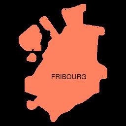 Mapa del cantón de friburgo