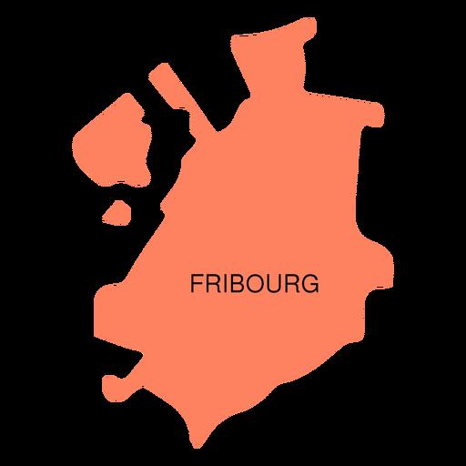 Fribourg canton map Transparent PNG