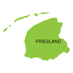 Friesland province map