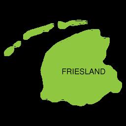 Mapa de la provincia de Frisia