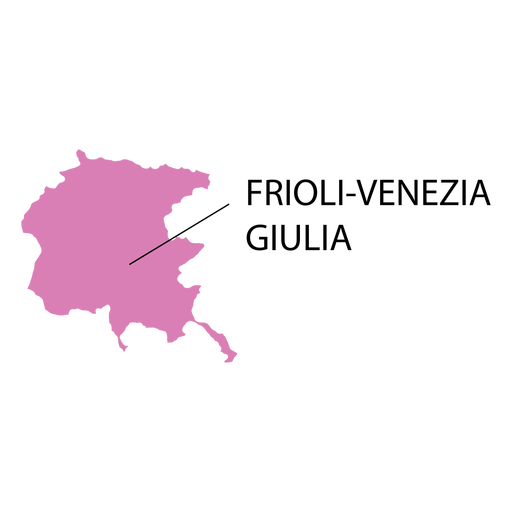 Friuli venezia giulia region map Transparent PNG