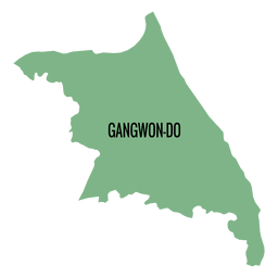 Gangwon do province map