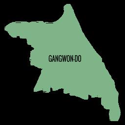 Mapa de la provincia de Gangwon do