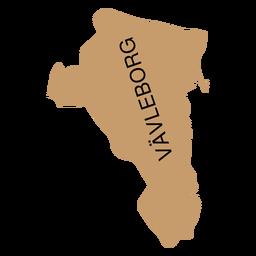 Landkarte von Gavleborg