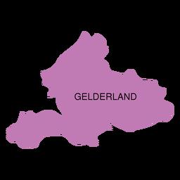 Mapa da província de Gelderland