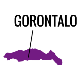 Gorontalo province map