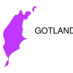 Mapa de condado de Gotland