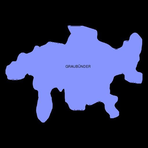 Graubunder grisons canton map Transparent PNG SVG vector