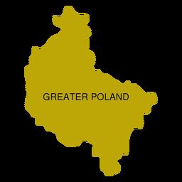 Mapa de voivodato de gran polonia