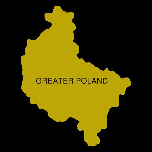 Mapa de voivodato de gran polonia Transparent PNG