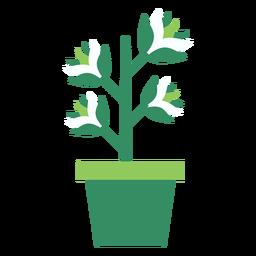 Maceta verde con imágenes prediseñadas de planta