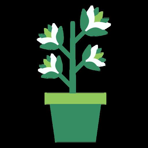 Maceta verde con clipart de la planta Transparent PNG
