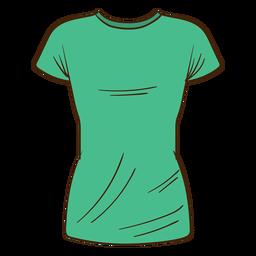 Dibujos animados de camiseta de los hombres verdes