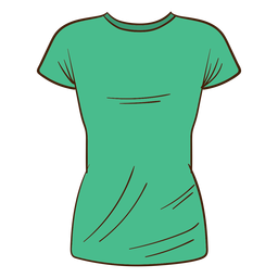 Green men t shirt cartoon