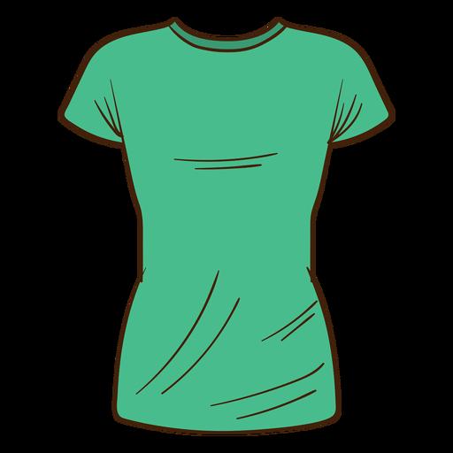Green men t shirt cartoon Transparent PNG