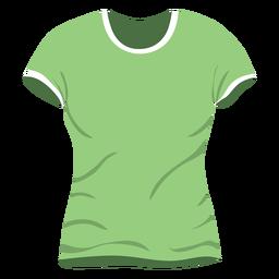 Icono verde de la camiseta de los hombres
