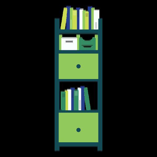 Green office bookshelf clipart Transparent PNG