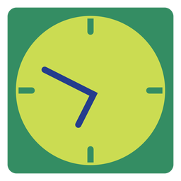 Green wall clock clipart