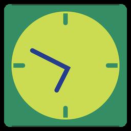 Relógio de parede verde clipart